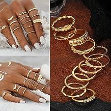 Generic 12Pcs/Set_Vintage_ Gold _Boho_Midi_Finger_Knuckle_ Rings _Women _Fashion_ Jewelry _Gift #NUN Ring Gold