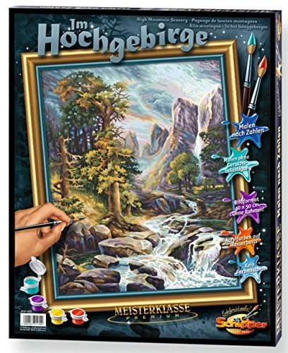 High Mountain Scenery Paint-by-Number Kit by Schipper