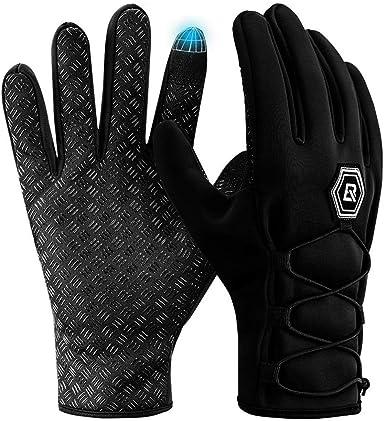 HIKEY Guantes de invierno cálidos para deportes con pantalla táctil antideslizante Palm Running Ciclismo Guantes de conducción guantes cálidos para ...