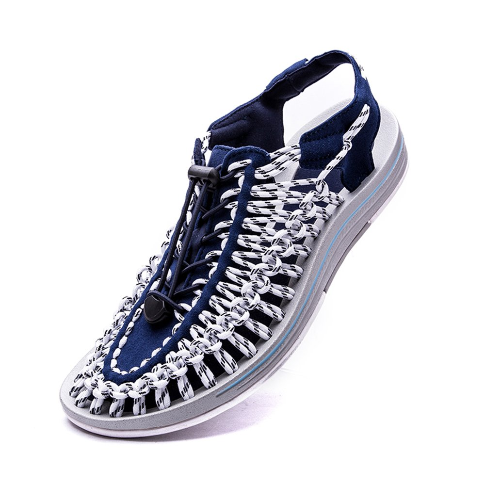 Sommer Gewebt Atmungsaktive Sandalen waten Schuhe Weiss Herren Casual Schuhes Blau Weiss Schuhe f4741a