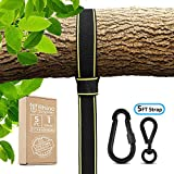 Rhino StrapMate Tree Swing Straps Hanging Kit – 5ft Strap, Holds 2800 lbs (SGS Certified), Fast & Easy Way to Hang Any Swing – Outdoor Swing Hangers