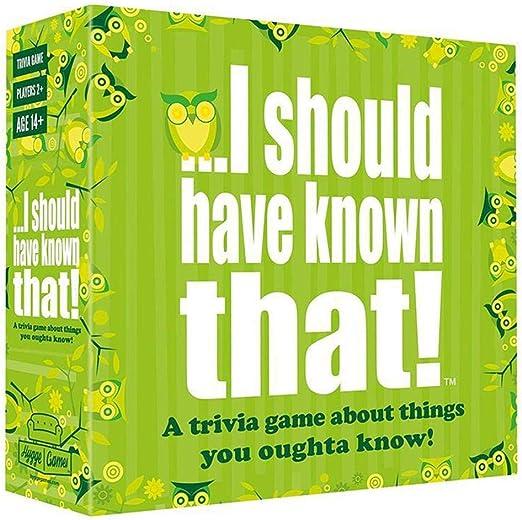 Tarjeta de juego en inglés completo - Debería haberlo sabido ...