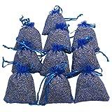 RakrisaSupplies Royal Blue Lavender Sachet Bags Pack of 15 | Natural Deodorizer, Moth Repellent, Highest Fragrance Lavender Scent Sachets for Wedding Toss, Potpourri, Pillow, Closet,Car | LS-006