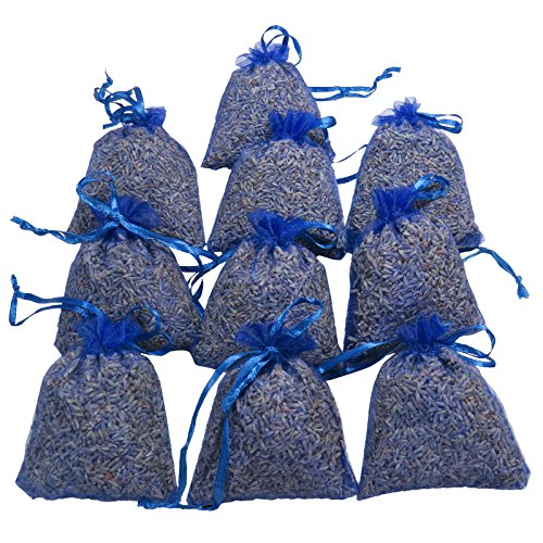 RakrisaSupplies Royal Blue Lavender Sachet Bags Pack of 15 | Natural Deodorizer, Moth Repellent, Highest Fragrance Lavender Scent Sachets for Wedding Toss, Potpourri, Pillow, Closet,Car | LS-006