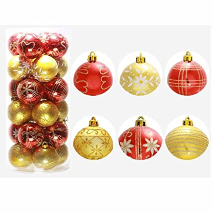 christmas ballrambling 24pc christmas tree xmas balls decorations baubles party wedding ornament 23inch