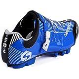 SIDEBIKE MTB Cycling Shoes Gentlemen Ladies Mountainbike Shoes 6.5 - 12 UK,Pls Choose One Size Larger Than Usual