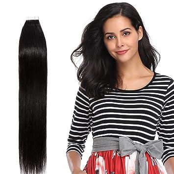 Tape in extensions remy echthaar haarverlangerung