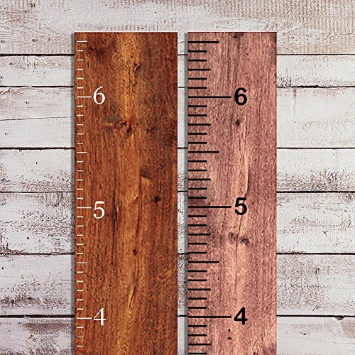 - Vinyl Growth Chart Decal DIY Ruler Decal Kit Kids Height Ruler Measuring Tape Sticker (Black Matte, 6.5in Wide x 6.5ft. Tall)
