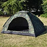 LWVAX Polyester Military Picnic Camping Portable Waterproof Dome Tents for 2 Persons (Multicolour)
