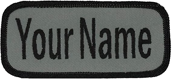IRON ON NAME PATCH BLUE ON WHITE KATHY  NEW EMBROIDERED  SEW