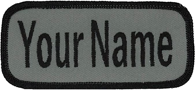 ALEXANDER NAME TAG BLUE AND WHITE Iron or Sew-On Patch