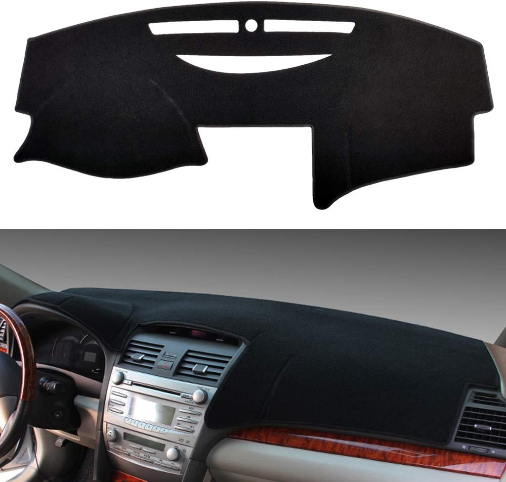 HanLanKa Car Carpet Dashboard Cover,Dash Cover Mat Fit for Toyota Camry 2007 2008 2009 2010 2011 (Black)