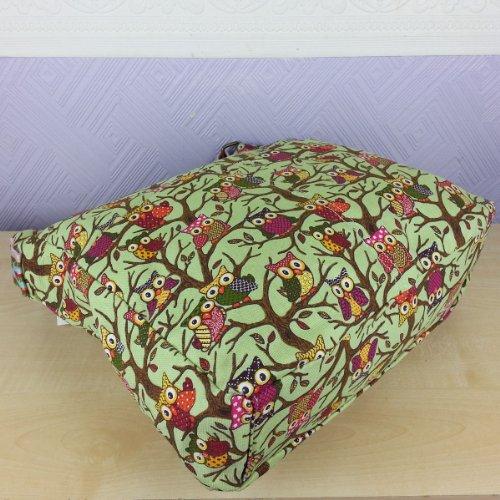 OWL Tree Cross Canvas Designer Body Owl Bag Messenger Bag Ladies GREEN x7qx6wPzU