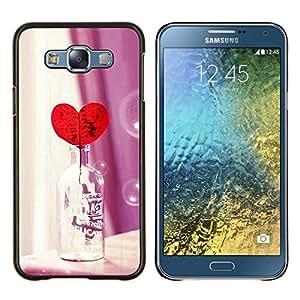 LECELL--Funda protectora / Cubierta / Piel For Samsung Galaxy E7 E700 -- Amor Botella Corazón --