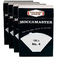 Technivorm Moccamaster 85022 Filtre Na ° 4 kağıt, Beyaz | Paketi 4 kutu 100 filtreleri x