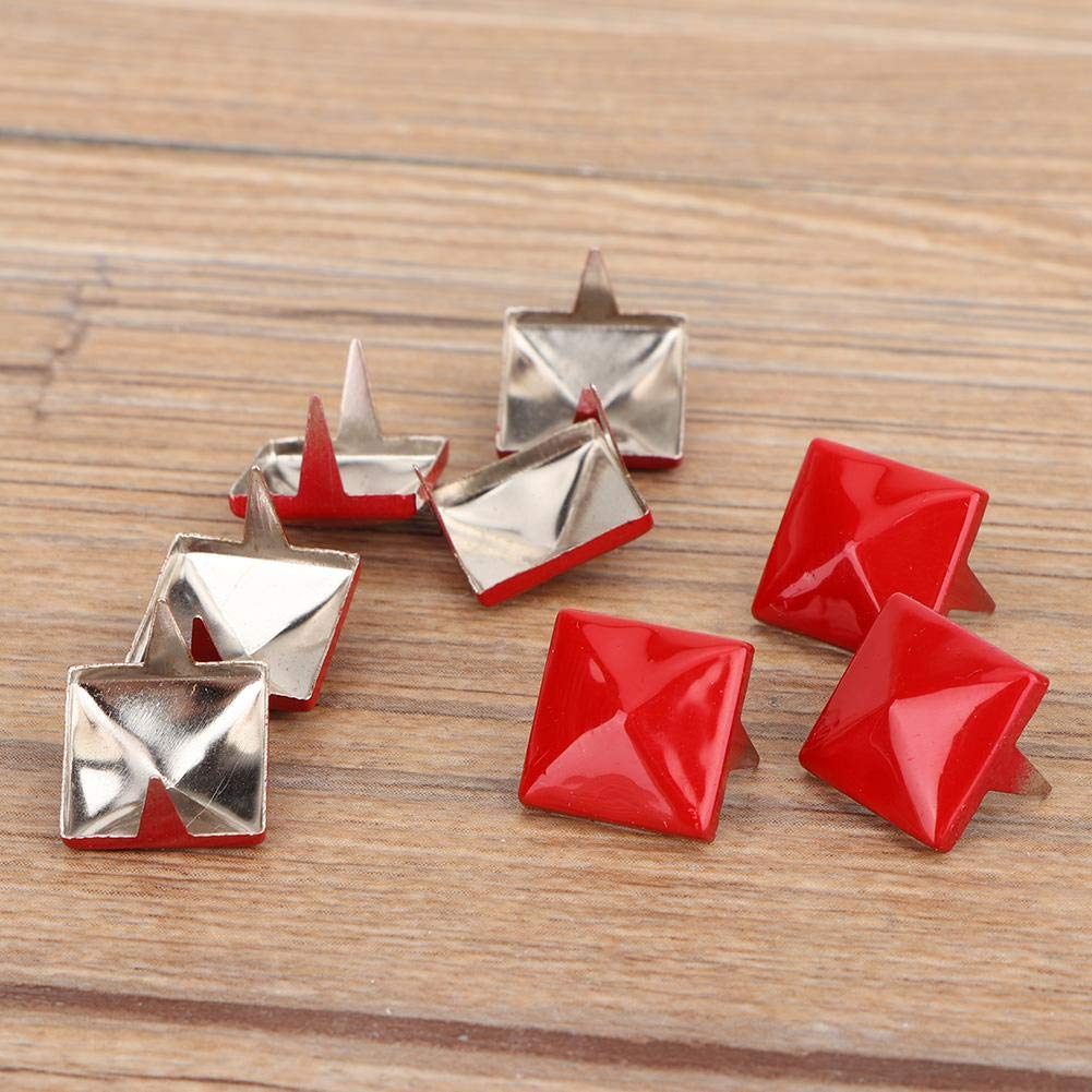 12mm Metallnagelk/öpfe mit quadratischen Pyramidennieten f/ür Kleidung Lederhandwerk Redxiao Bunte Nieten Schuhe Dekoration Taschen