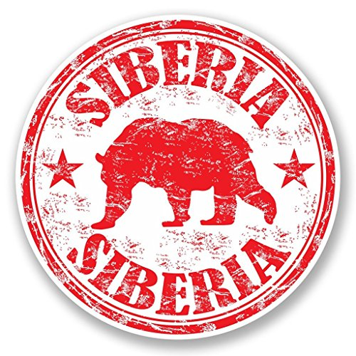 2 x 10cm/100mm Siberia Vinyl Sticker Decal Laptop Travel Luggage Car iPad Sign Fun #5599