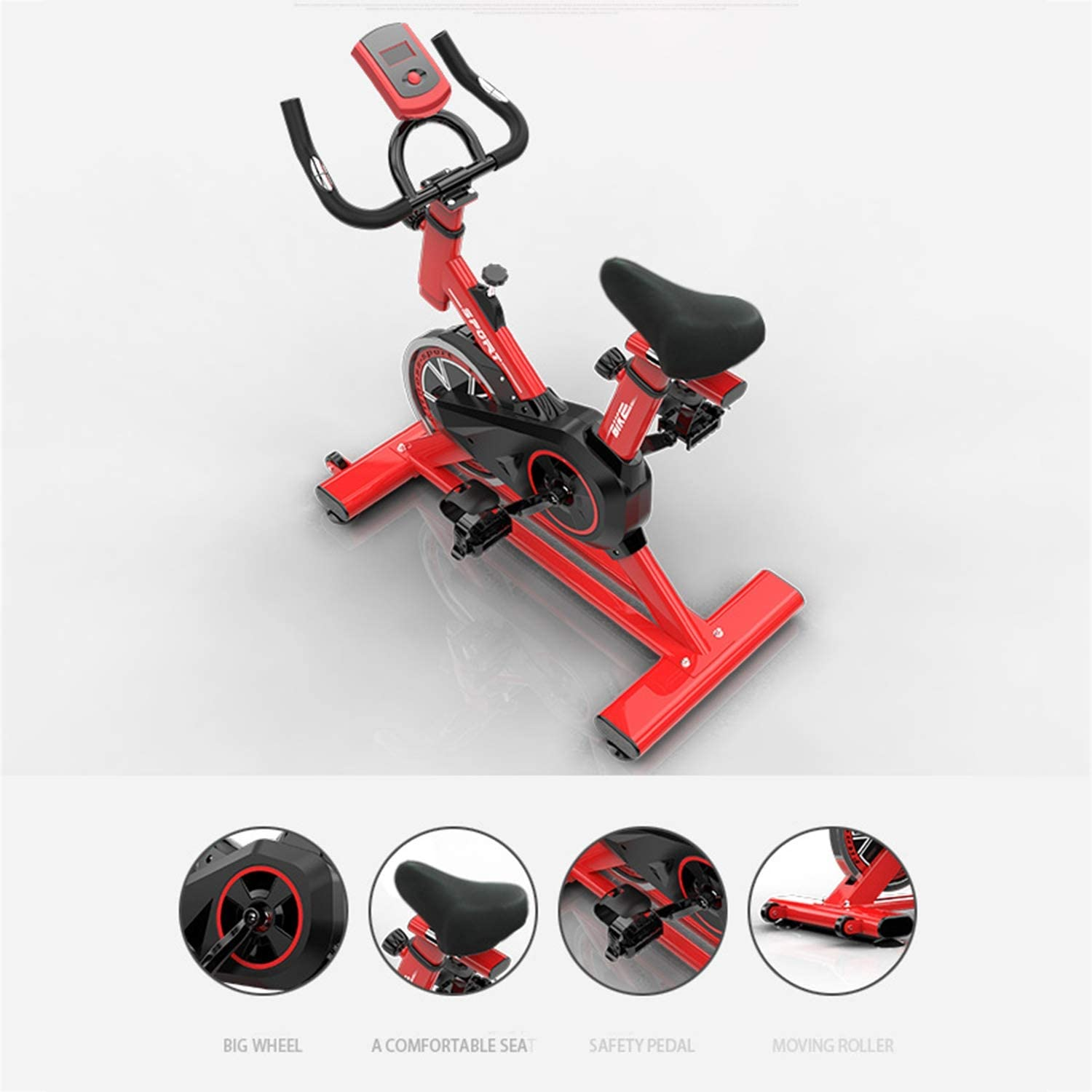 Fitness Bike And Ab Trainer Sporting Equipment Ideal Cardio Trainer,Red YMXLXL F-Bike And F-Rider