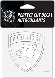 "Wincraft NHL Florida Panthers 4""x4"" inch White Decal Sticker"