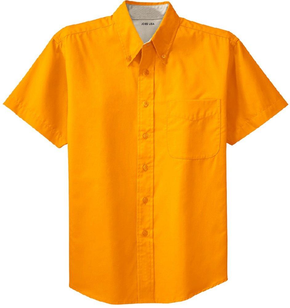 Joe's USA Men's Short Sleeve Wrinkle Resistant Easy Care Shirts in 32 Colors. Sizes XS-6XL USAL01232015627
