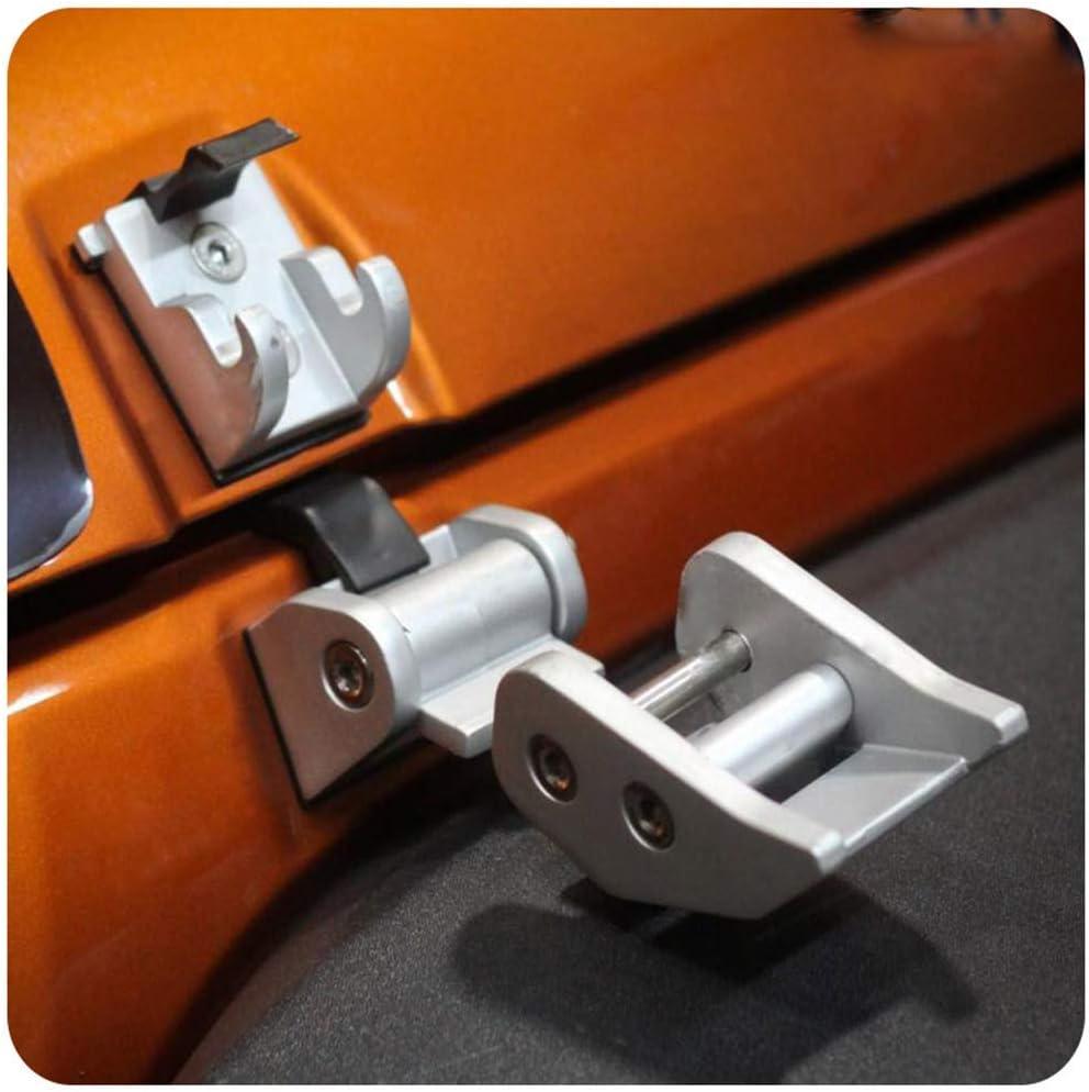Psler Auto Hood Latches Hood Lock Catch Kit for Jeep Wrangler JK 2007-2017 Gold