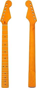 Kmise - 22 trastes en negro brillante para mástil de guitarra eléctrica ...