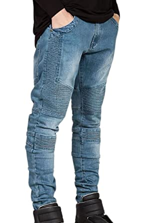 4bcea95a01f Xswsy XG Men Jeans Pants Ruched High Elastic Denim Jeans at Amazon ...