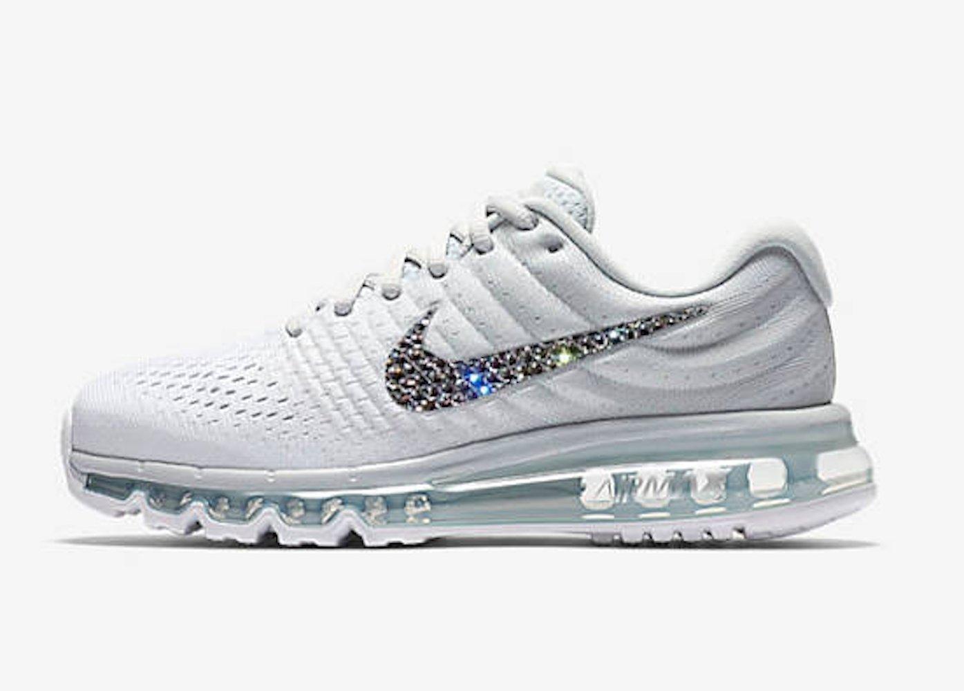 Womens Swarovski Nike air max 2017, Blinged out Nike shoes, Bling nike air max, Blinged Nike air max, Bling Nikes, Nike bling