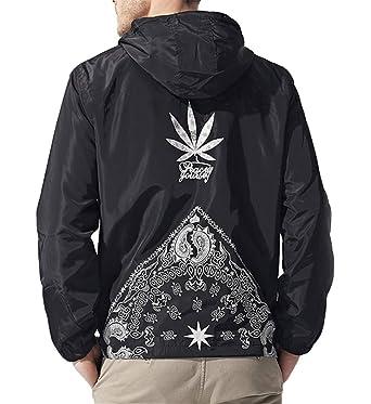 1e3c7d7da AITFINEISM Men's Outdoor Windproof Hoodie Zip-up Lightweight Windbreaker  Jacket (Small, Black)
