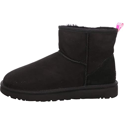 Ugg classic slipper, stivali, donna, nero (black), 37 amazon shoes neri inverno