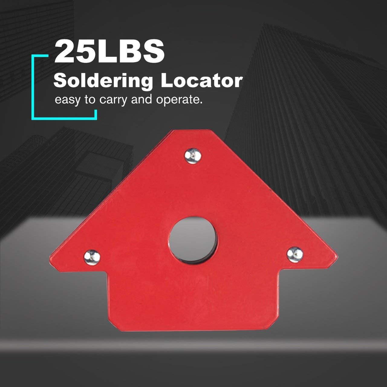 75LB Magnetschwei/ßhalter 3-Winkel-Pfeilschwei/ßer Positionierer Elektrowerkzeug Zubeh/ör rot DEjasnyfall L/ötort 25LB 50LB