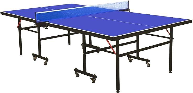 ZNN Mesa de Ping Pong: Mesa de Entrenamiento portátil Plegable ...