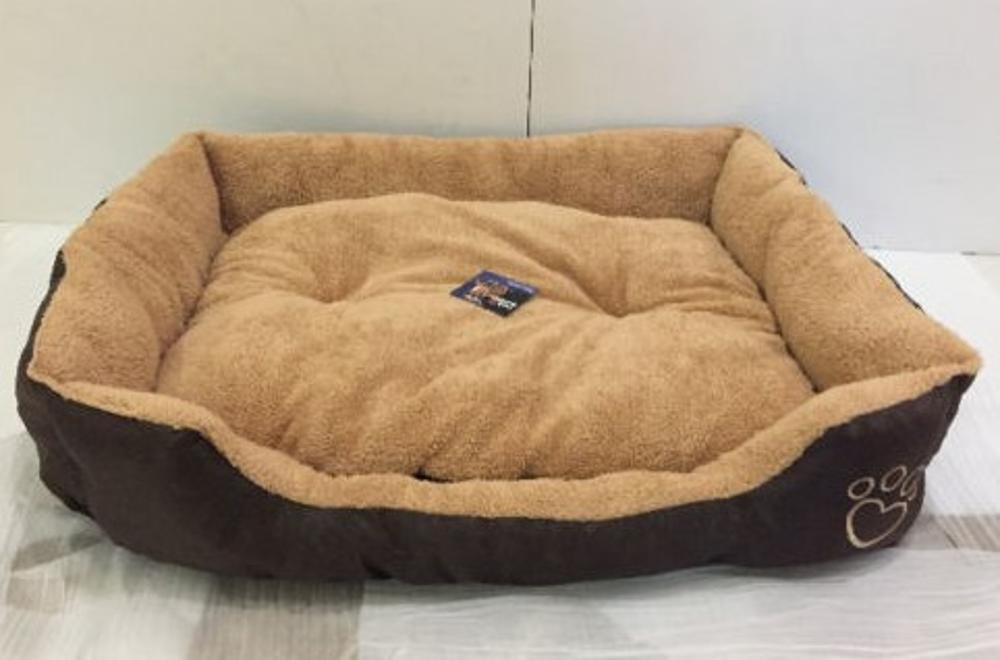B 90x70x20cm B 90x70x20cm WUTOLUO Pet Bolster Dog Bed Comfort Lamb Fleece Oxford Blabrado Kimmau Pet nest (color   B, Size   90x70x20cm)