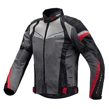 Sanqing Chaqueta de Verano para Moto Chaqueta para Hombre ...