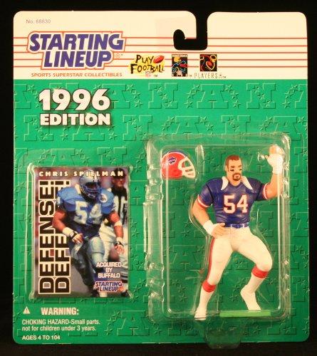 (Starting Lineup Chris Spielman Figure with Trading Card 1996 NFL Football Buffalo Bills)