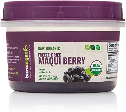 Amazon Com Bareorganics Maqui Berry Powder Freeze Dried