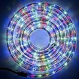 TrendMakers Festive Decorration 30m Chaser Multi-Function Rope Light - Multi-Coloure