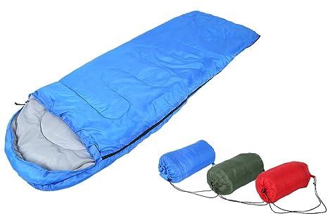 Lulalula - Saco de dormir rectangular, cómodo y ligero, con bolsa de compresión para