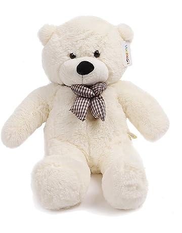 120 cm gigante teddy oso de peluche con adorno de nudo animal de felpa  blanco 3b007f58166