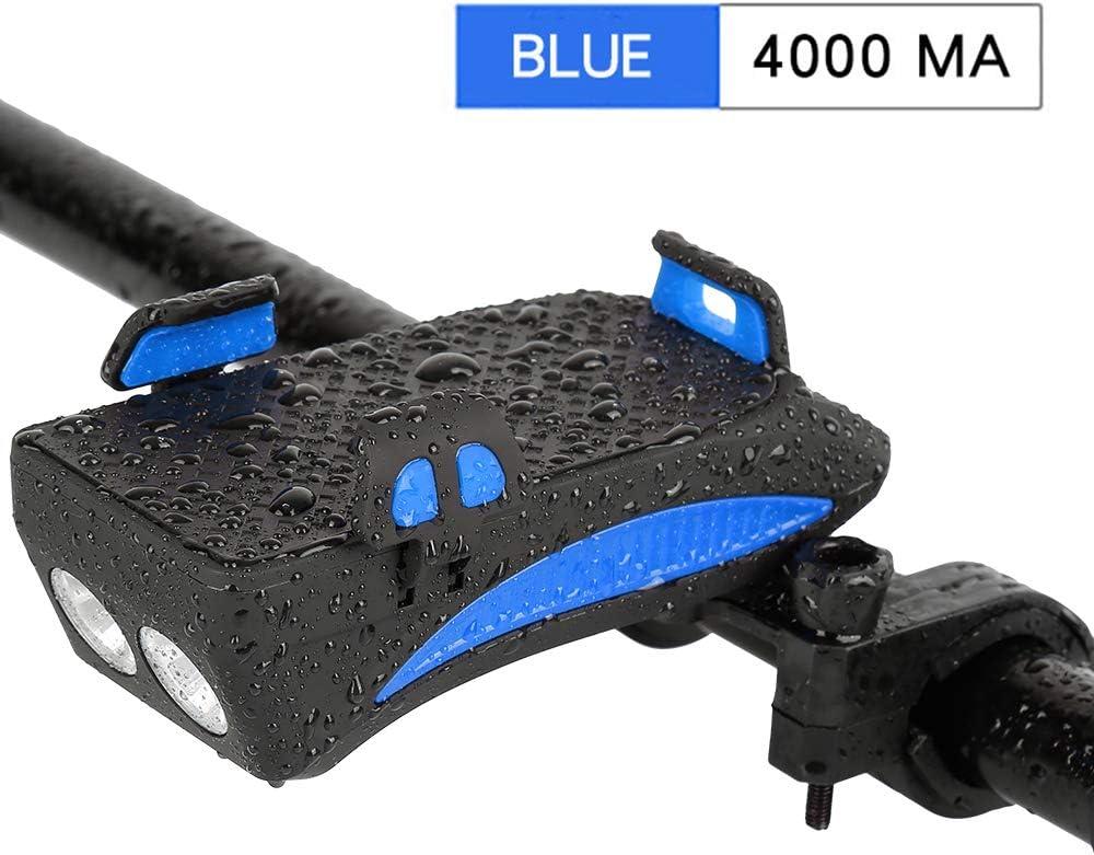 Banque dalimentation Rechargeable USB Support de t/él/éphone pour v/élo /étanche 4 en 1 XINGXINGFAN lumi/ère Avant de v/élo klaxon de v/élo lumi/ère de v/élo /à 400 lumens Conduite s/éc