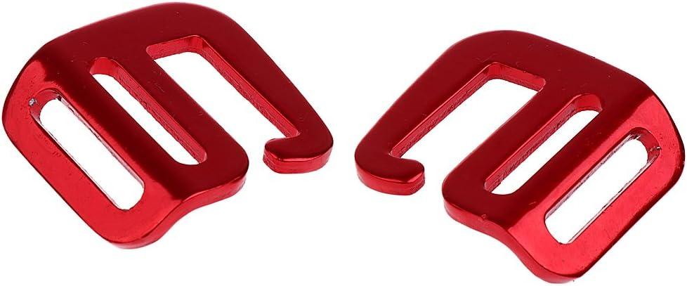 Flameer 2pcs Metal Buckle Repair Kit Release Buckles No Sewing Required for Backpack Bag 25mm