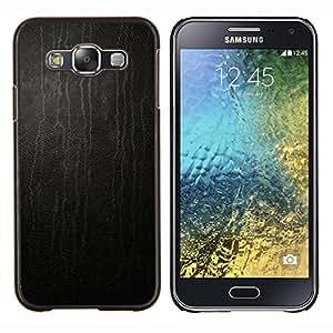 For Samsung Galaxy E5 E500 - Black Stained Leather Print Pattern /Modelo de la piel protectora de la cubierta del caso/ - Super Marley Shop -