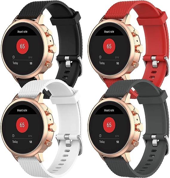 Armband 22mm nylon rot-weiß-lila-pink für Garmin Vivoactive 3