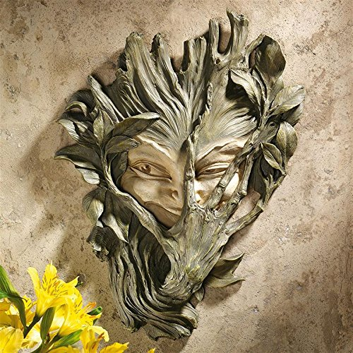 Design Toscano Bashful Wood Sprite Tree Face Mystic Decor Wall Sculpture, 13 Inch, Polyresin, Two Tone Stone from Design Toscano
