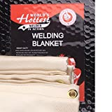 Weldflame Welding Blanket 680G/M2 4'X6' with Kevlar Stitched Edge Heavy Duty Golden (4'6')