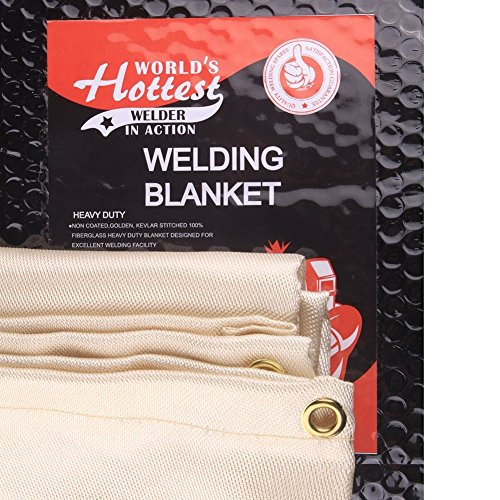 Weldflame Welding Blanket 6'X8' with Kevlar Stitched Edge Heavy Duty 8.4 Pounds Golden