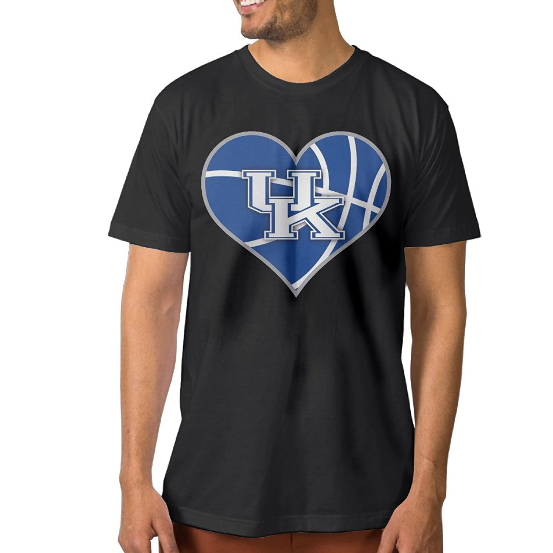 ElishaJ Men's University Of Kentucky Cotton Tee Shirt Black