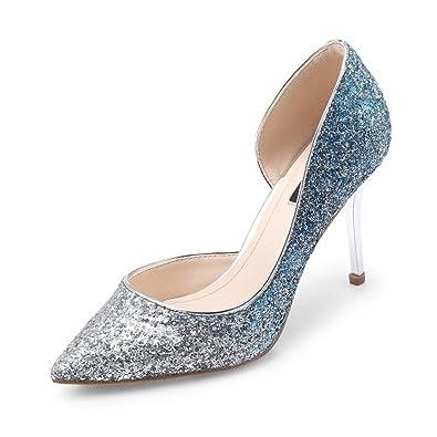 988cf8b1f3333 JE shoes Weibliche High Heels Prinzessin Kristall Schuhe Braut ...