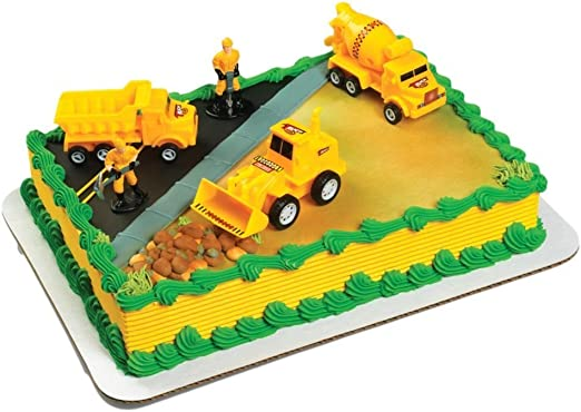 Incredible Amazon Com A Birthday Place Construction Scene Cake Topper Kit Funny Birthday Cards Online Fluifree Goldxyz