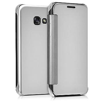 f8c812713c3 kwmobile Funda para Samsung Galaxy A3 (2017) Case Espejo Estilo Libro:  Amazon.es: Electrónica